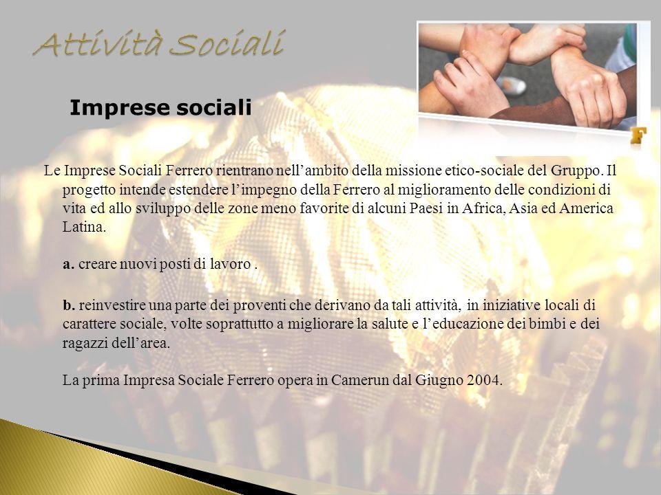 Attività Sociali Imprese sociali