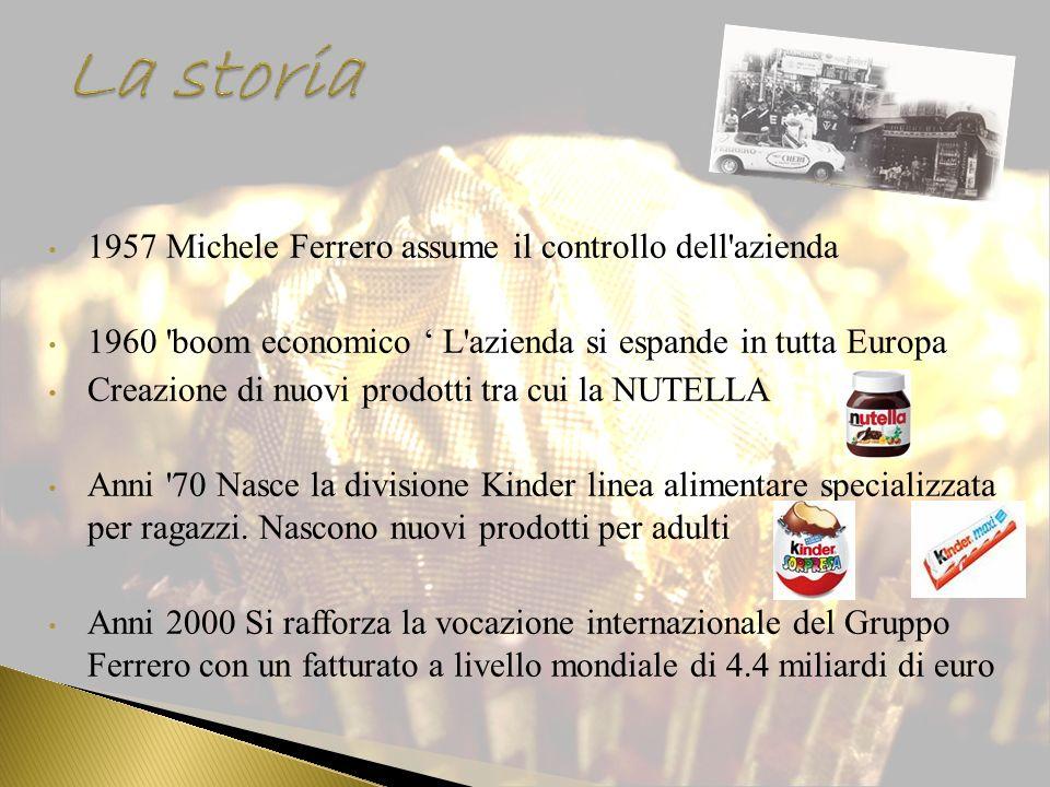 La storia 1957 Michele Ferrero assume il controllo dell azienda