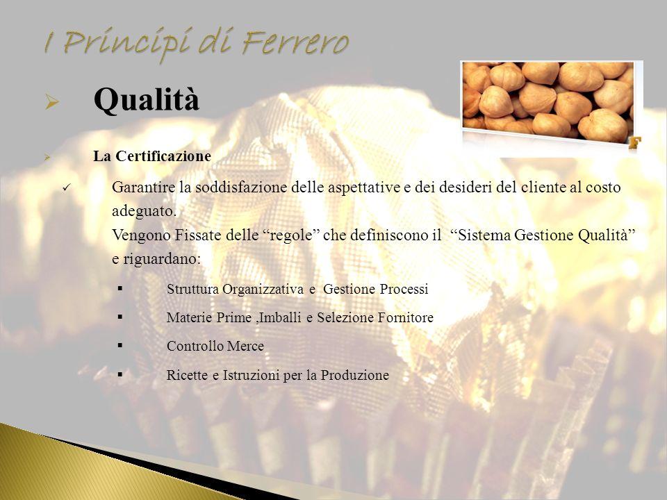 I Principi di Ferrero Qualità