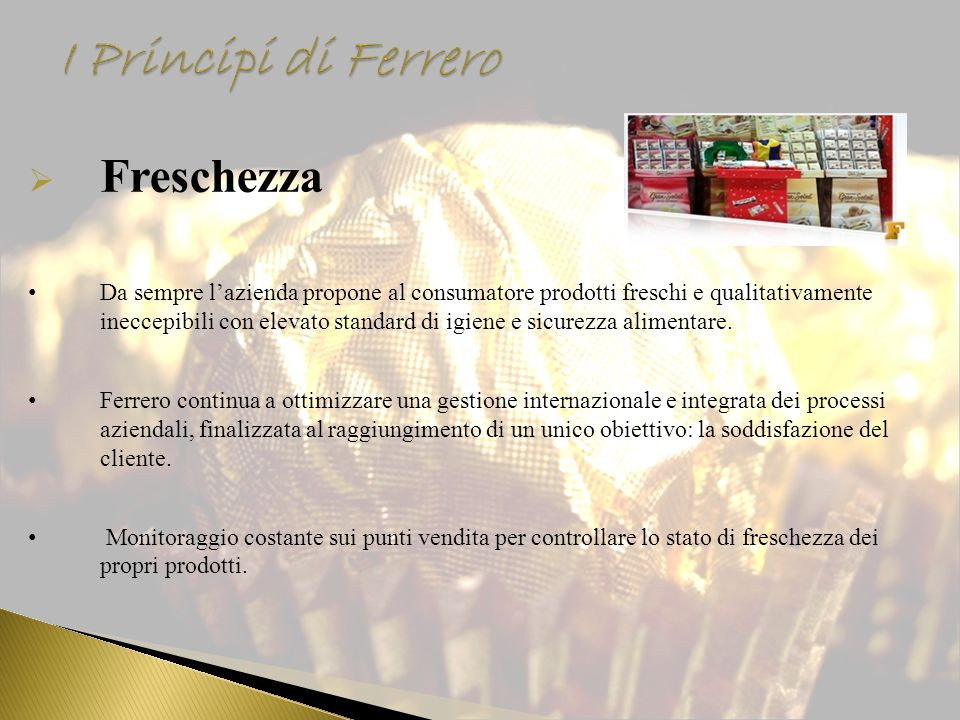 I Principi di Ferrero Freschezza