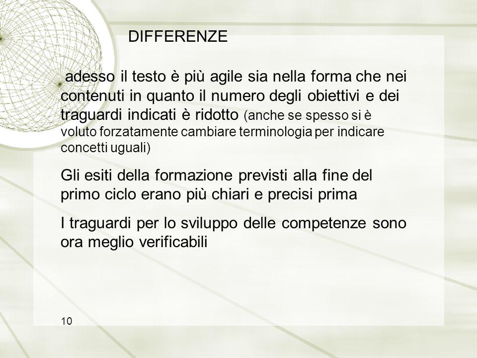DIFFERENZE