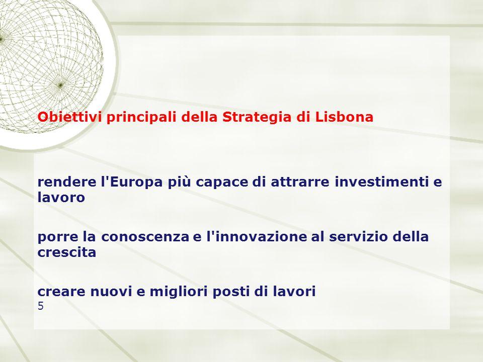 Obiettivi principali della Strategia di Lisbona