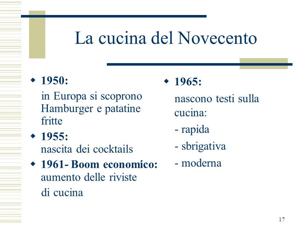 La cucina del Novecento