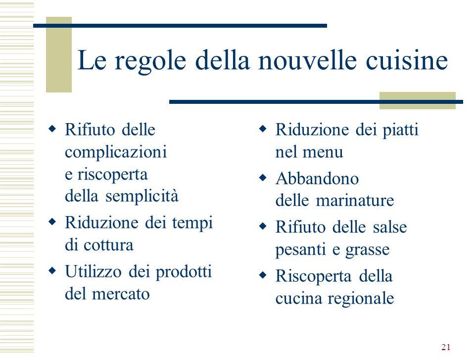 Le regole della nouvelle cuisine