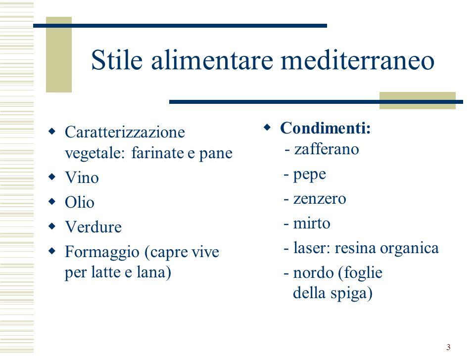 Stile alimentare mediterraneo