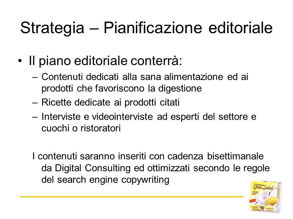 Strategia – Pianificazione editoriale