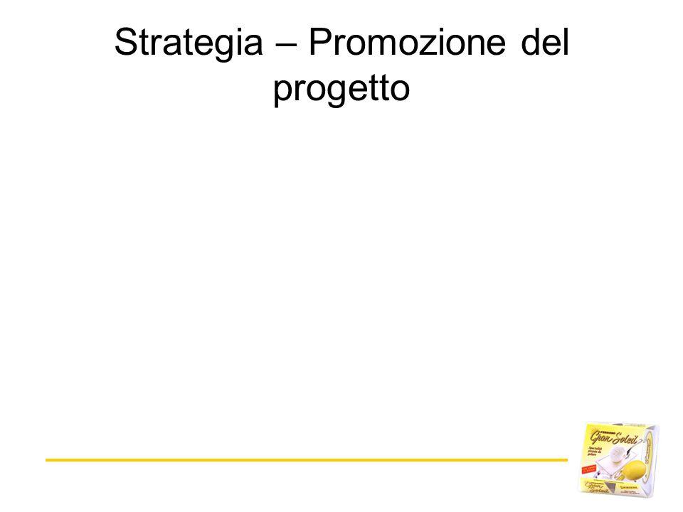 Strategia – Promozione del progetto