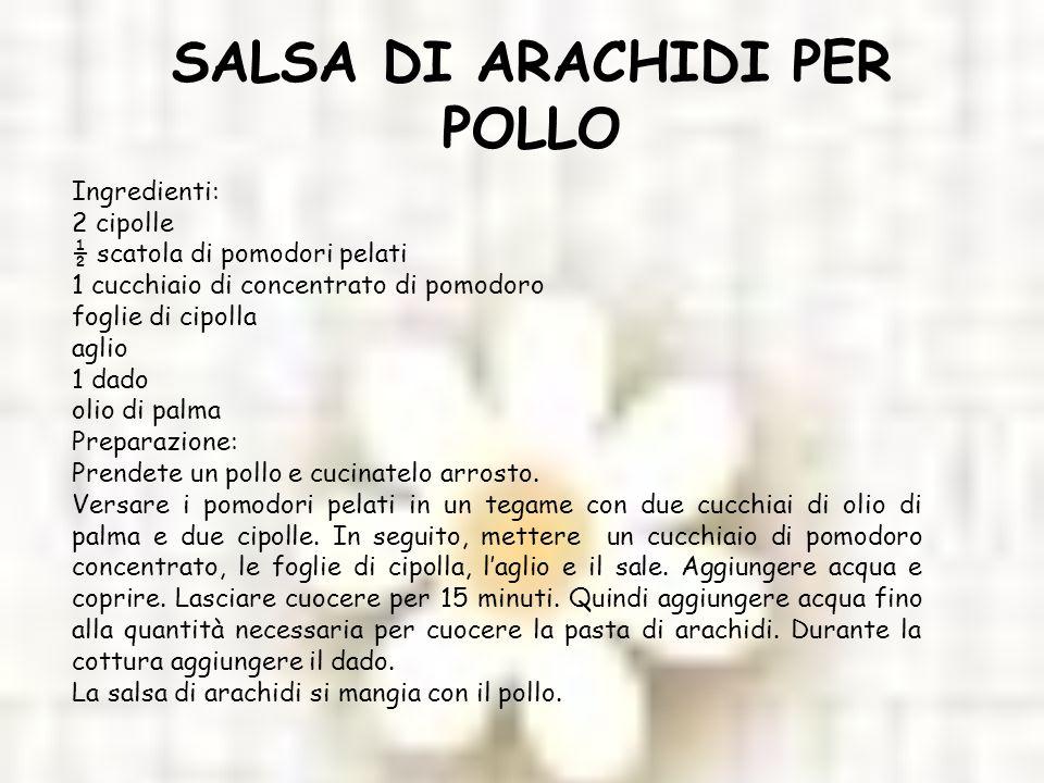 SALSA DI ARACHIDI PER POLLO