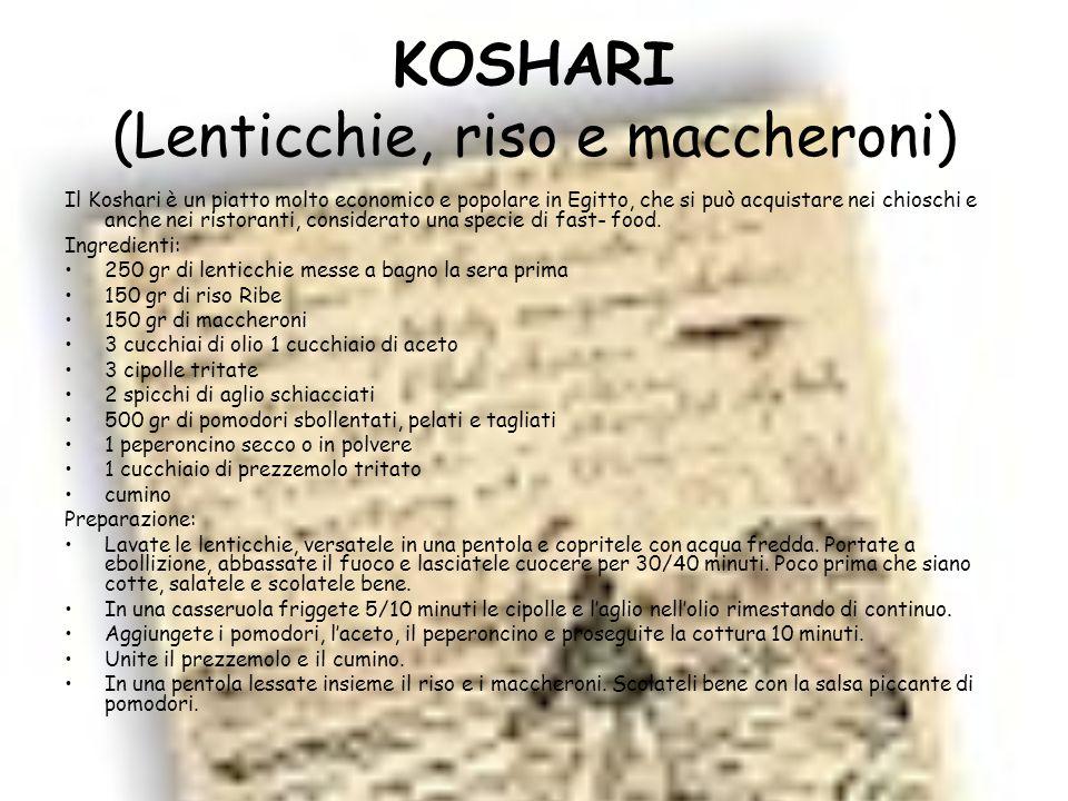 KOSHARI (Lenticchie, riso e maccheroni)