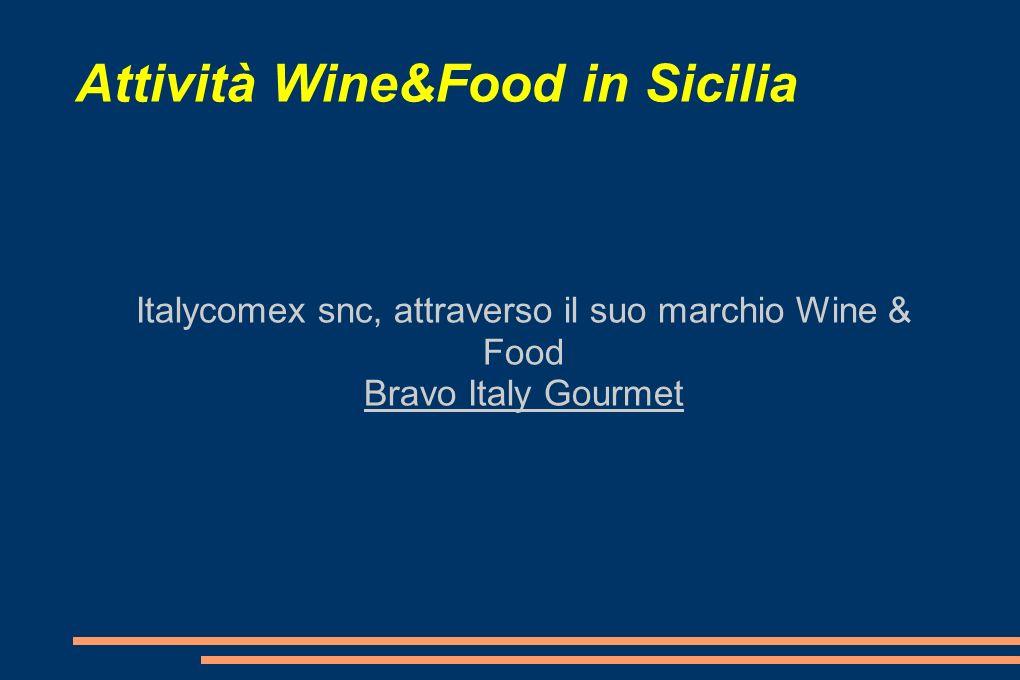 Attività Wine&Food in Sicilia