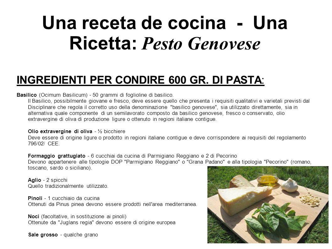 Una receta de cocina - Una Ricetta: Pesto Genovese