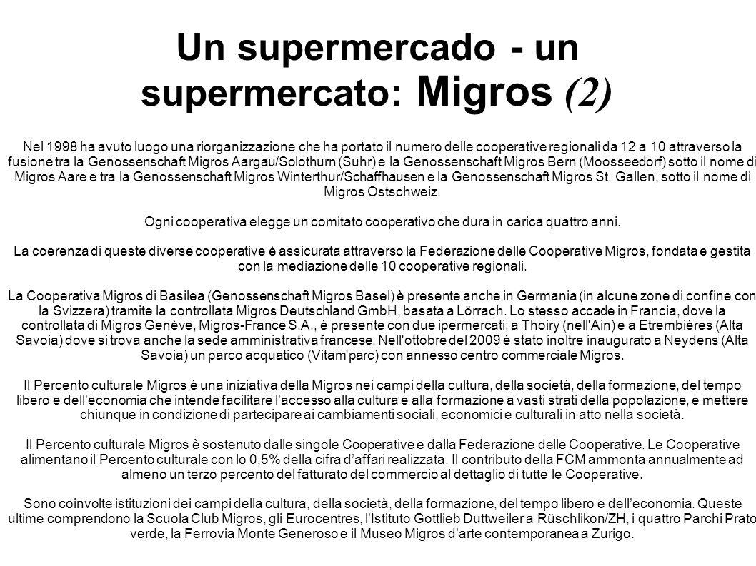 Un supermercado - un supermercato: Migros (2)