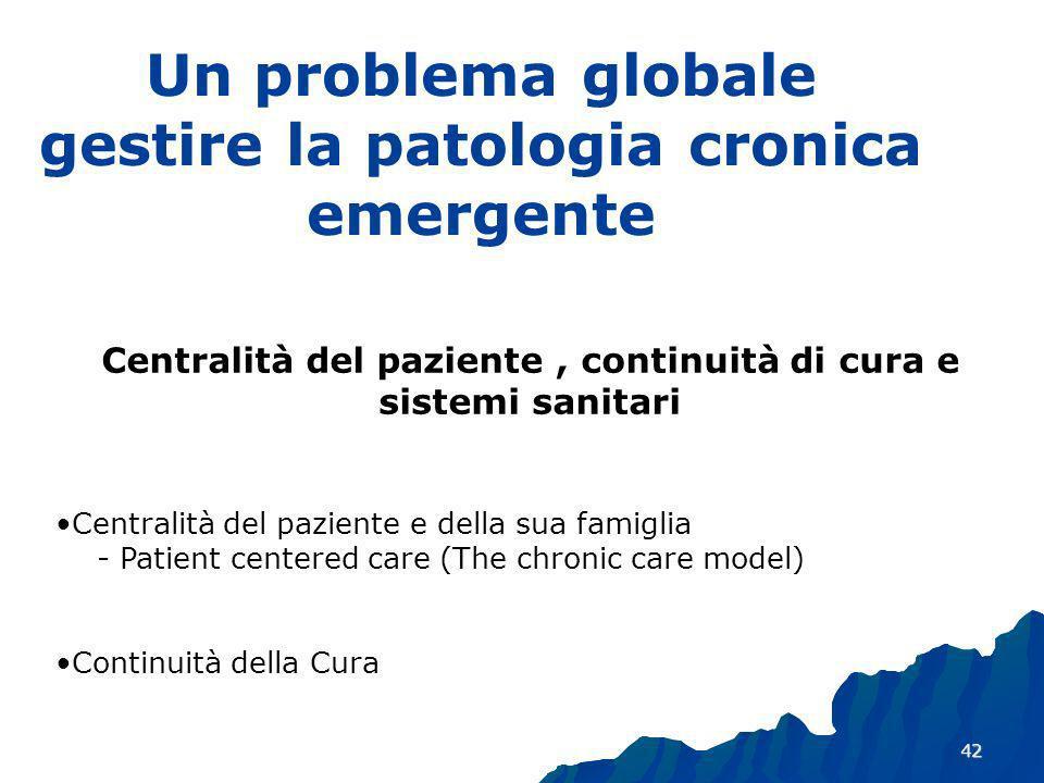 Un problema globale gestire la patologia cronica emergente