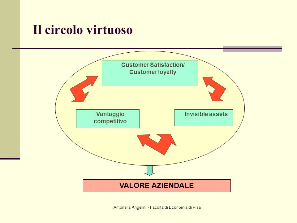 Customer Satisfaction/ Vantaggio competitivo
