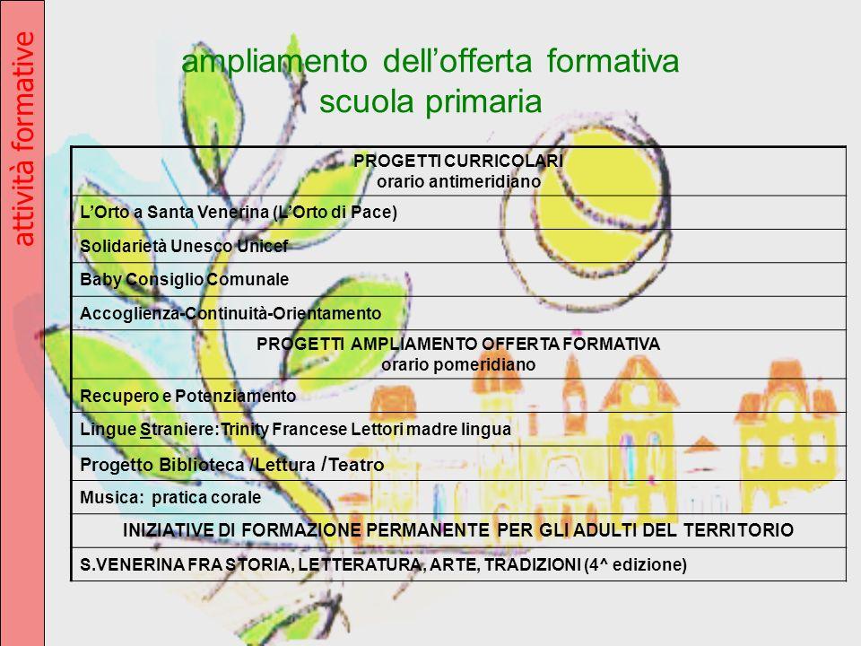 ampliamento dell'offerta formativa scuola primaria