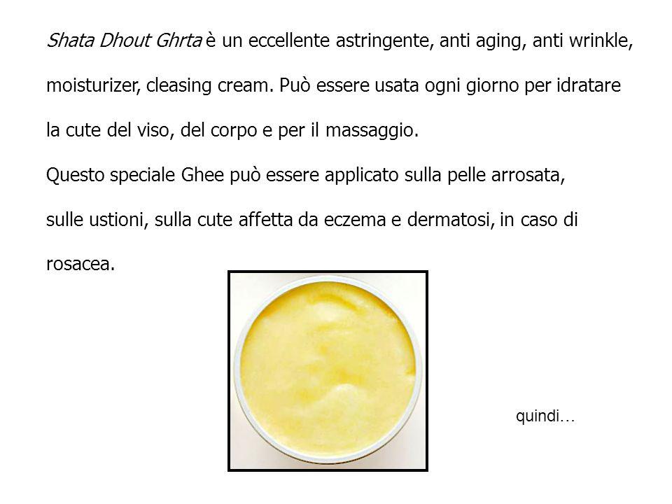 moisturizer, cleasing cream. Può essere usata ogni giorno per idratare