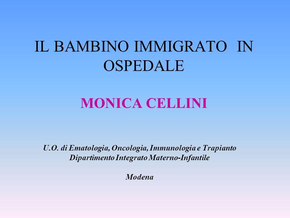 IL BAMBINO IMMIGRATO IN OSPEDALE MONICA CELLINI