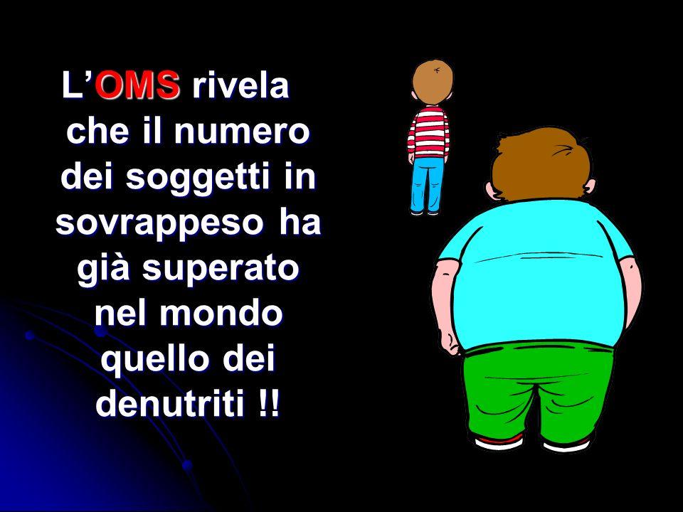 L'OMS rivela che il numero dei soggetti in sovrappeso ha già superato nel mondo quello dei denutriti !!