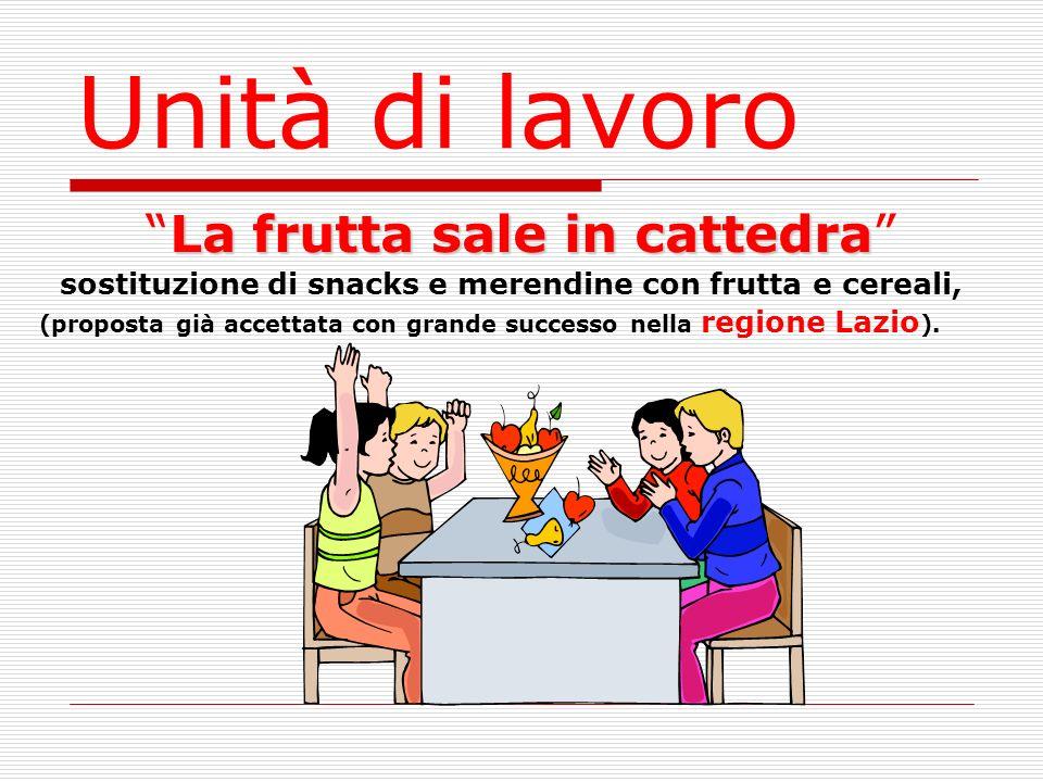 La frutta sale in cattedra