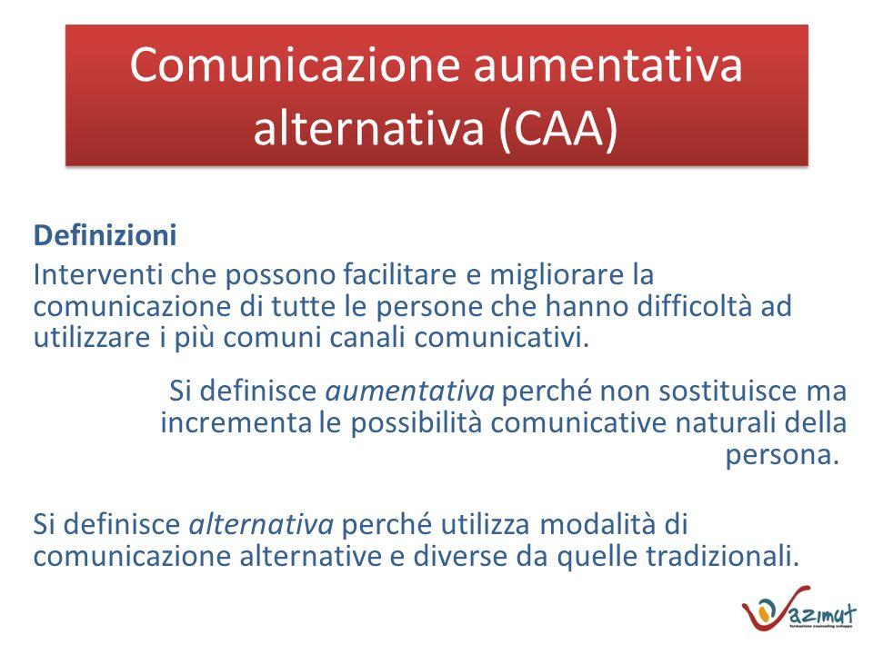 Comunicazione aumentativa alternativa (CAA)