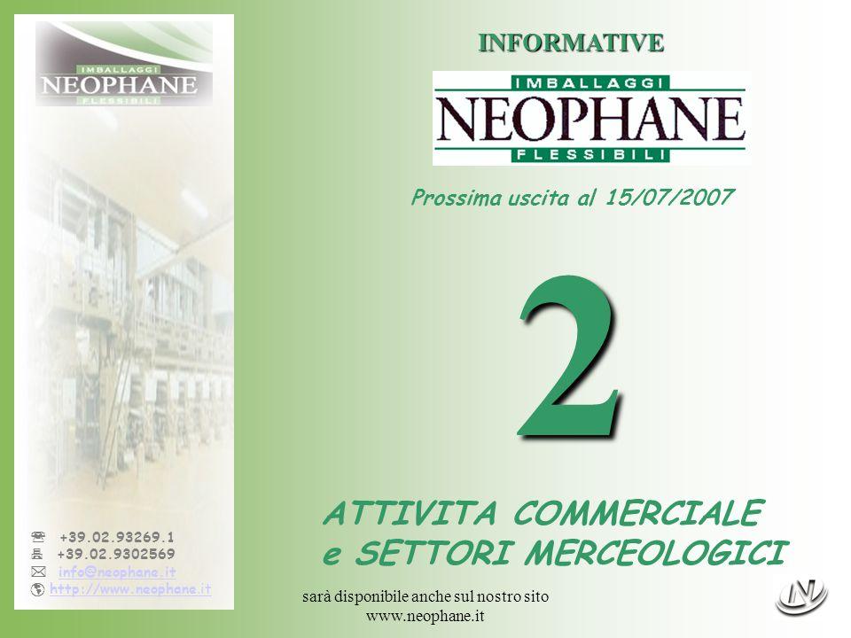 sarà disponibile anche sul nostro sito www.neophane.it