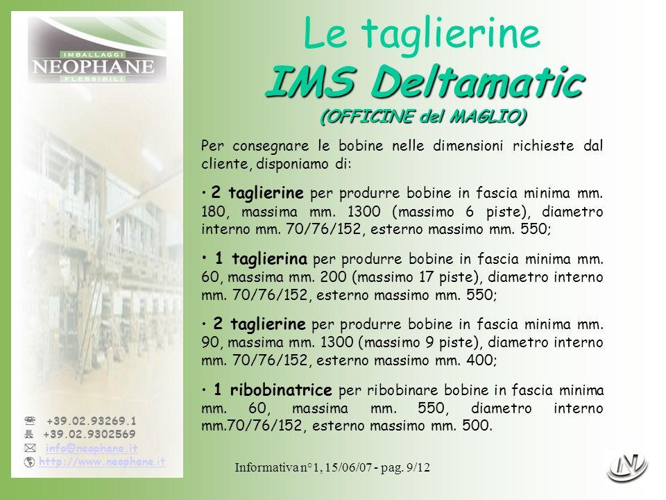 Le taglierine IMS Deltamatic (OFFICINE del MAGLIO)