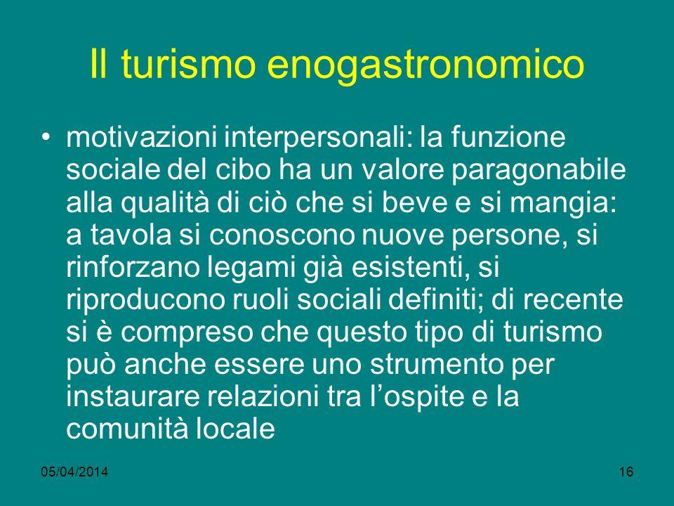 Il turismo enogastronomico