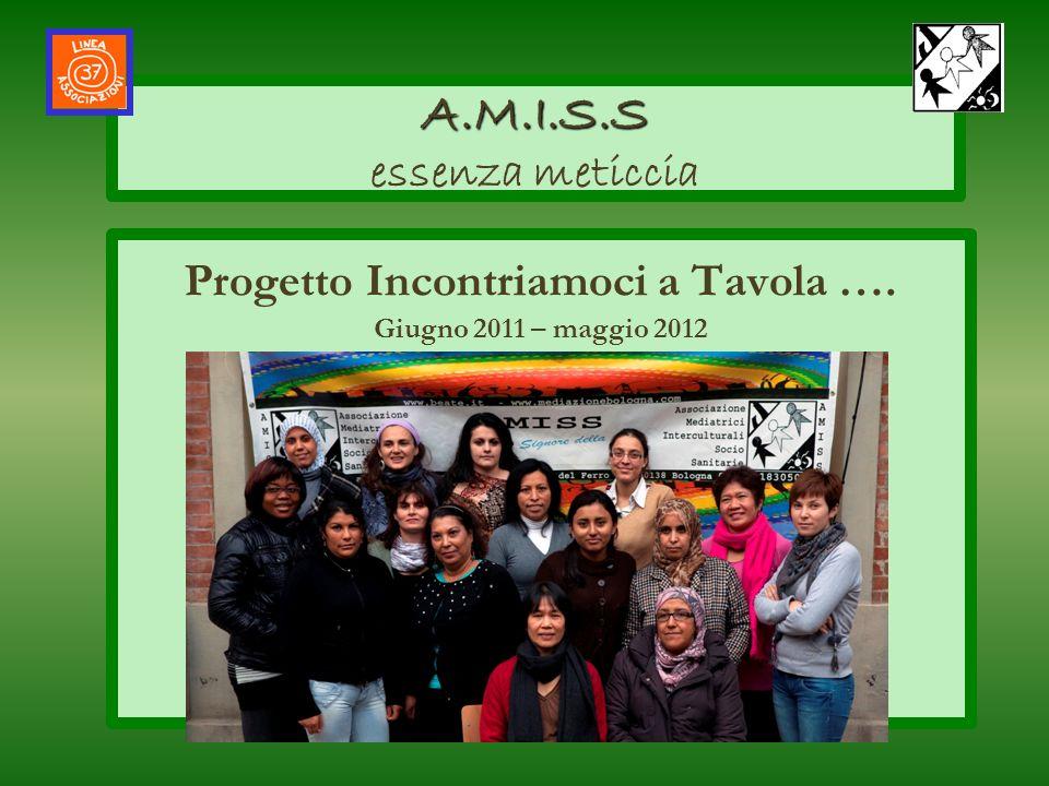 Progetto Incontriamoci a Tavola …. Giugno 2011 – maggio 2012