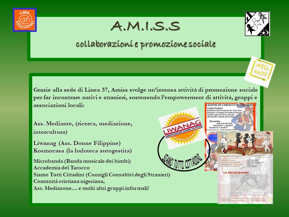 A.M.I.S.S collaborazioni e promozione sociale