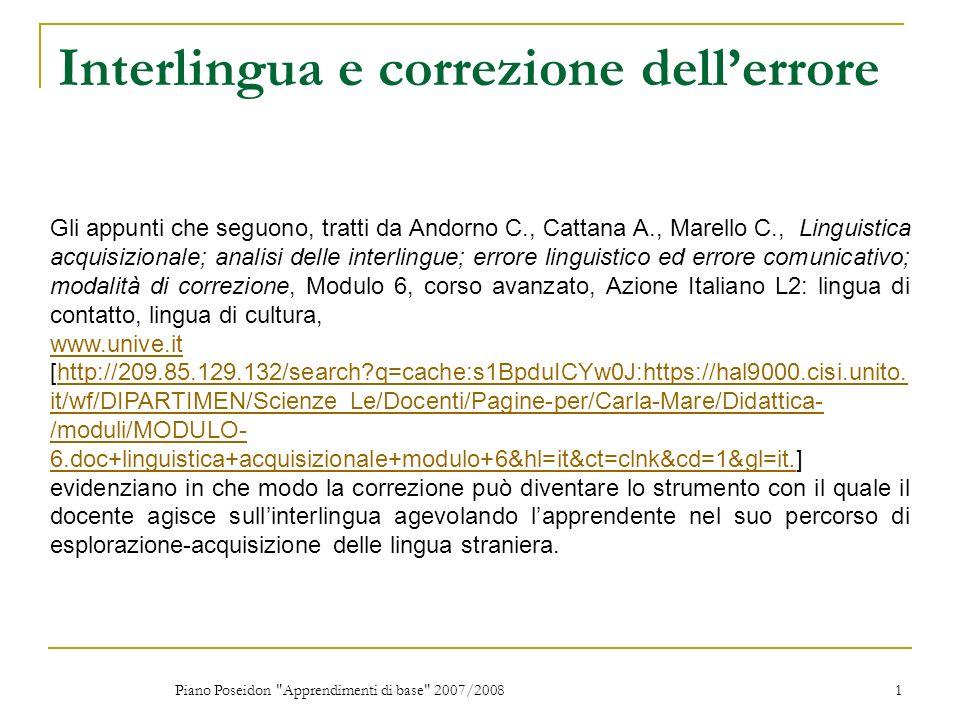 Interlingua e correzione dell'errore