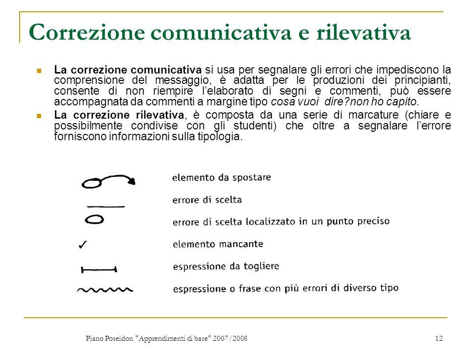 Correzione comunicativa e rilevativa