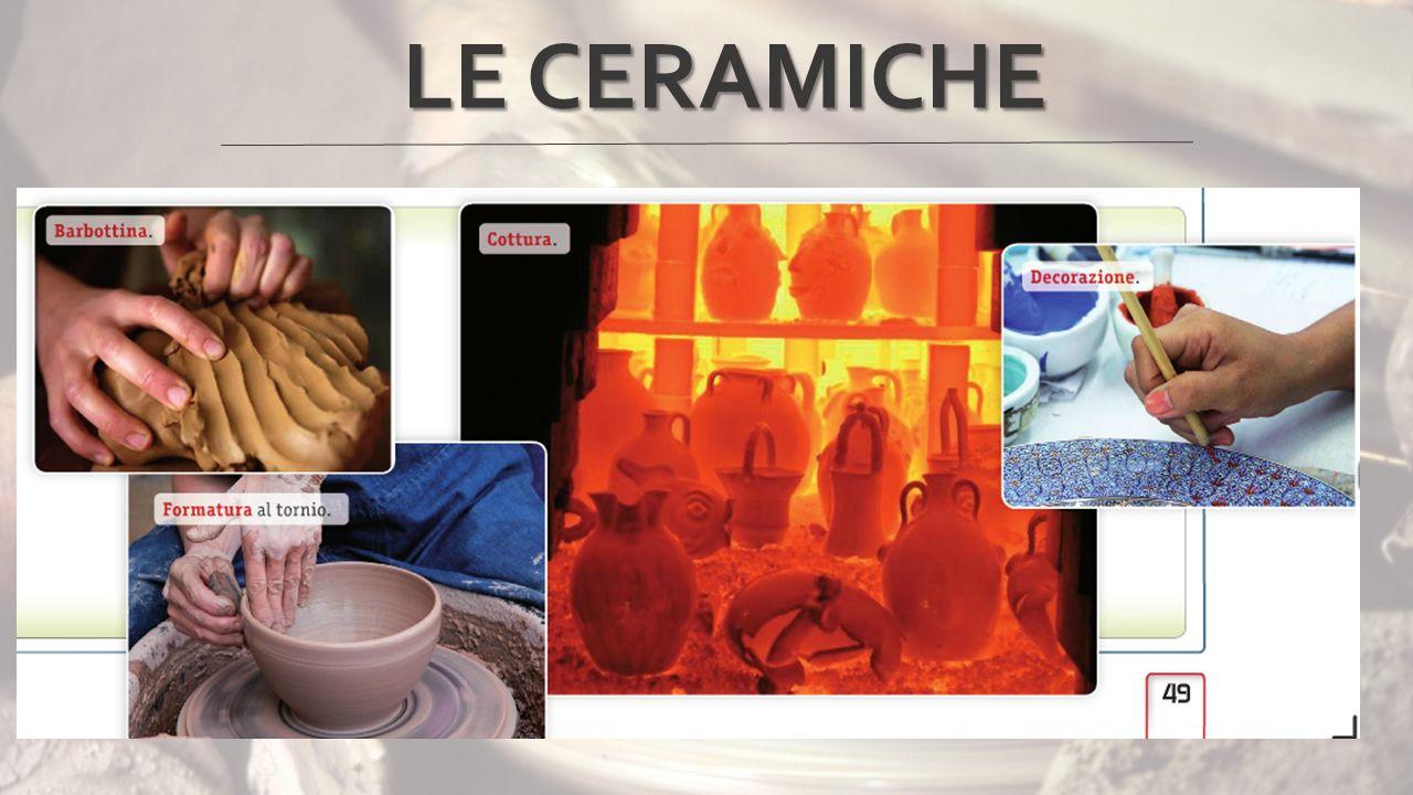 LE CERAMICHE La prima fase della produzione è la macinazione dell'argilla, del calcio e del quarzo, nelle dosi desiderate.