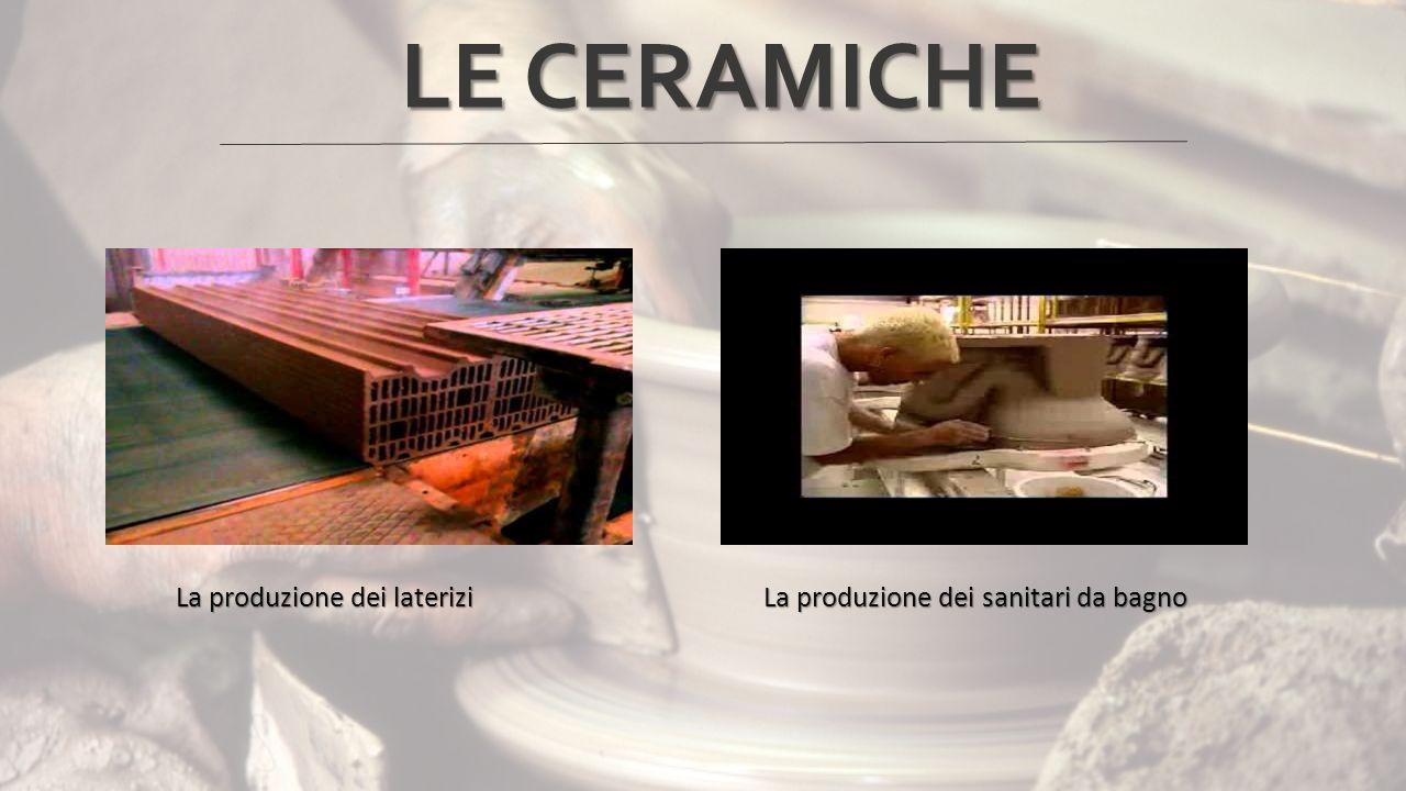 LE CERAMICHE La produzione dei laterizi La produzione dei sanitari da bagno.