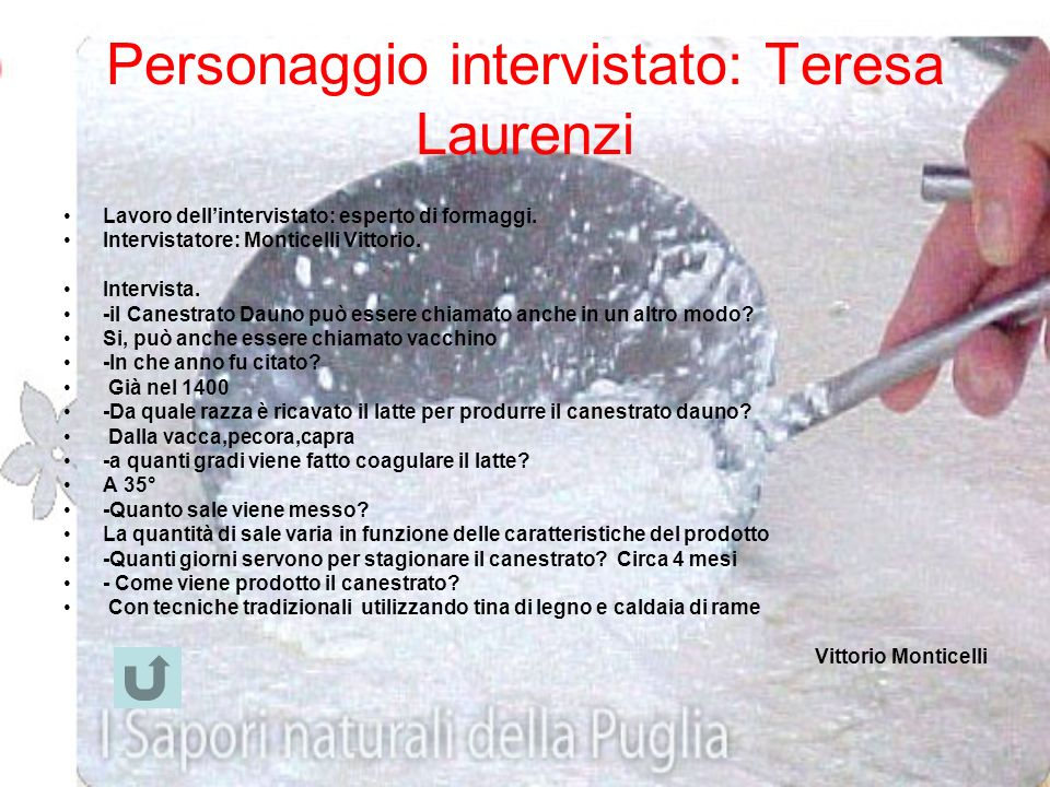 Personaggio intervistato: Teresa Laurenzi