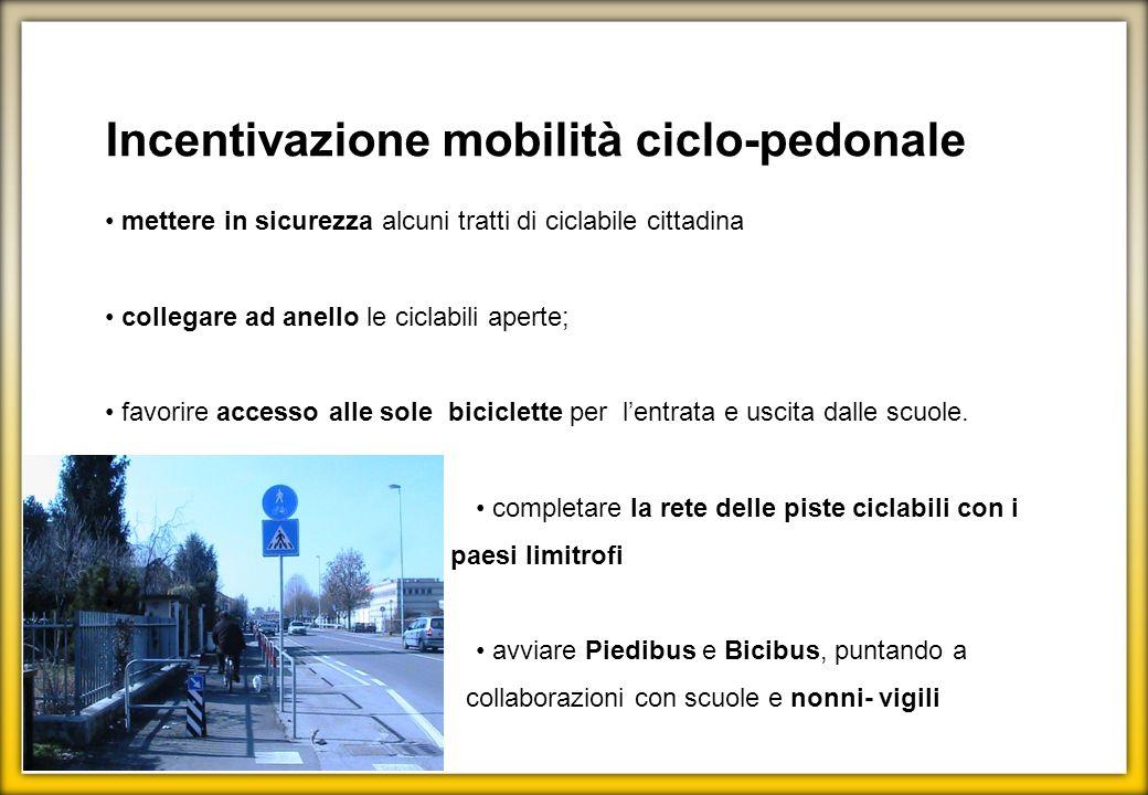 Incentivazione mobilità ciclo-pedonale