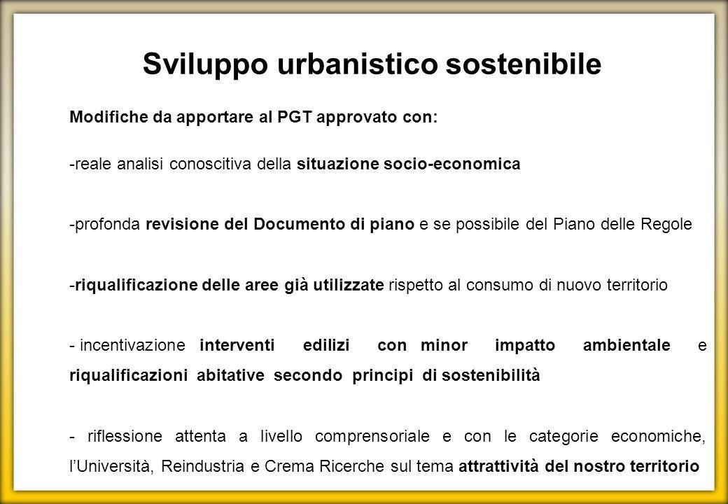 Sviluppo urbanistico sostenibile