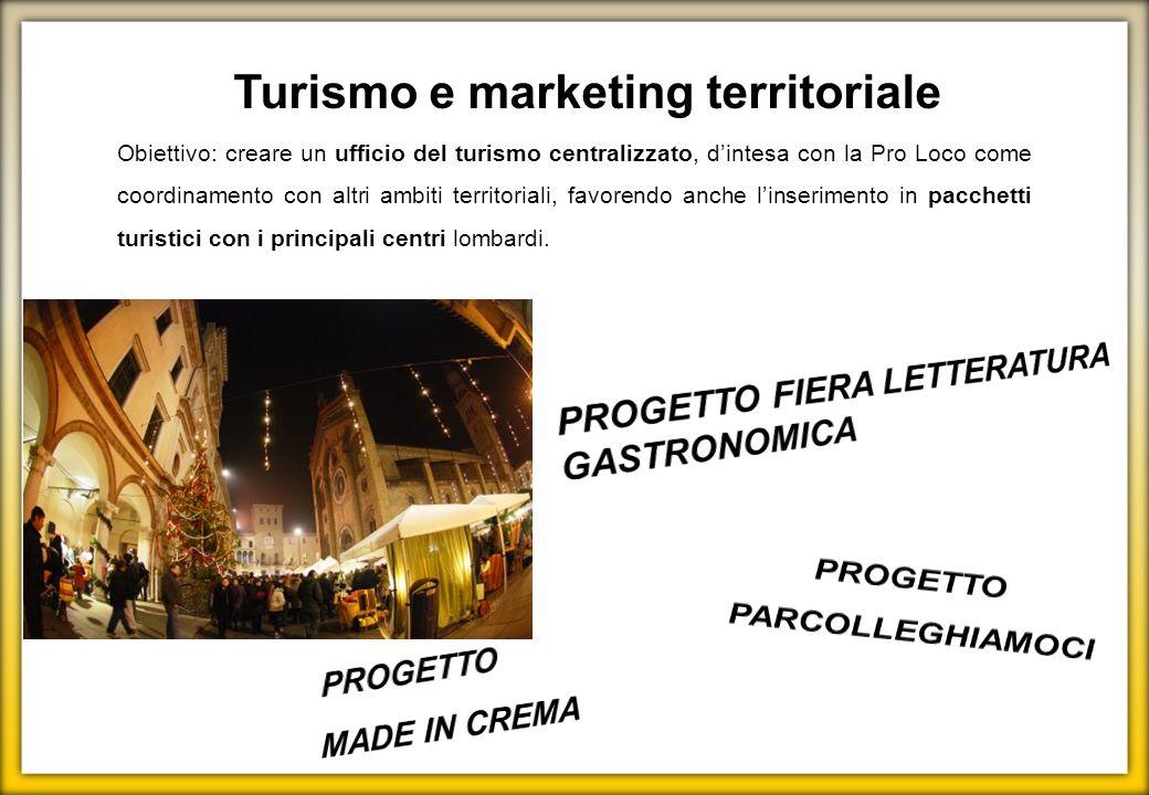 Turismo e marketing territoriale PROGETTO PARCOLLEGHIAMOCI