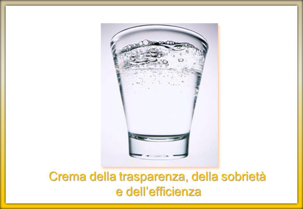 Crema della trasparenza, della sobrietà
