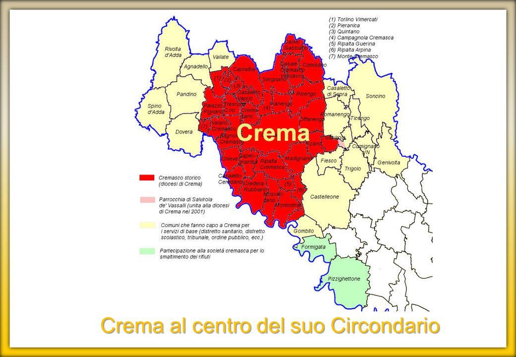 Crema al centro del suo Circondario