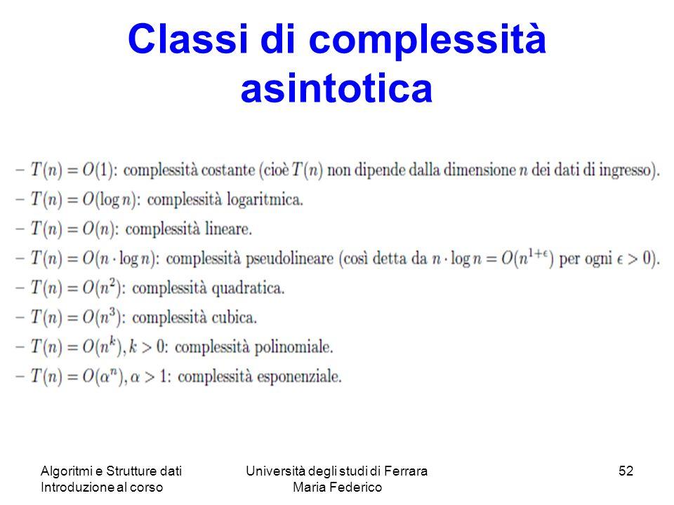 Classi di complessità asintotica