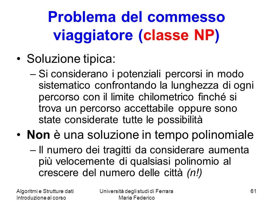 Problema del commesso viaggiatore (classe NP)