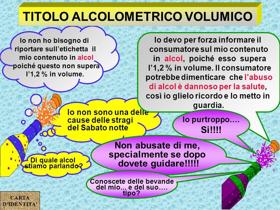 TITOLO ALCOLOMETRICO VOLUMICO