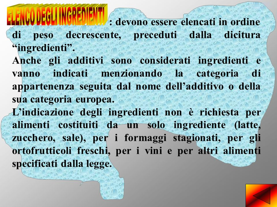 ELENCO DEGLI INGREDIENTI 2