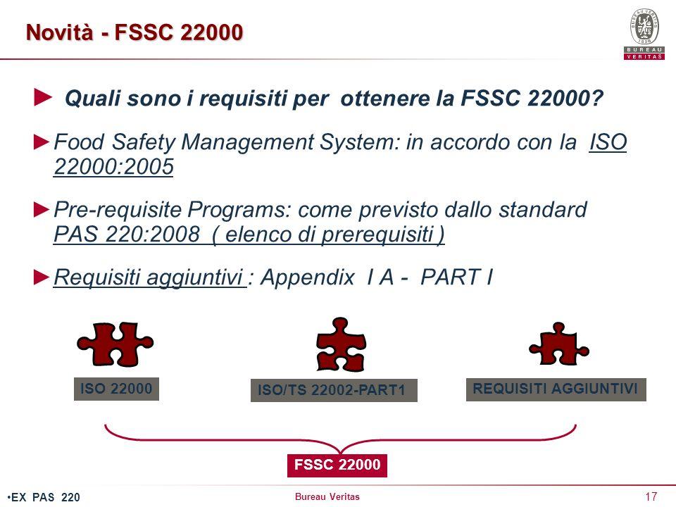 Quali sono i requisiti per ottenere la FSSC 22000