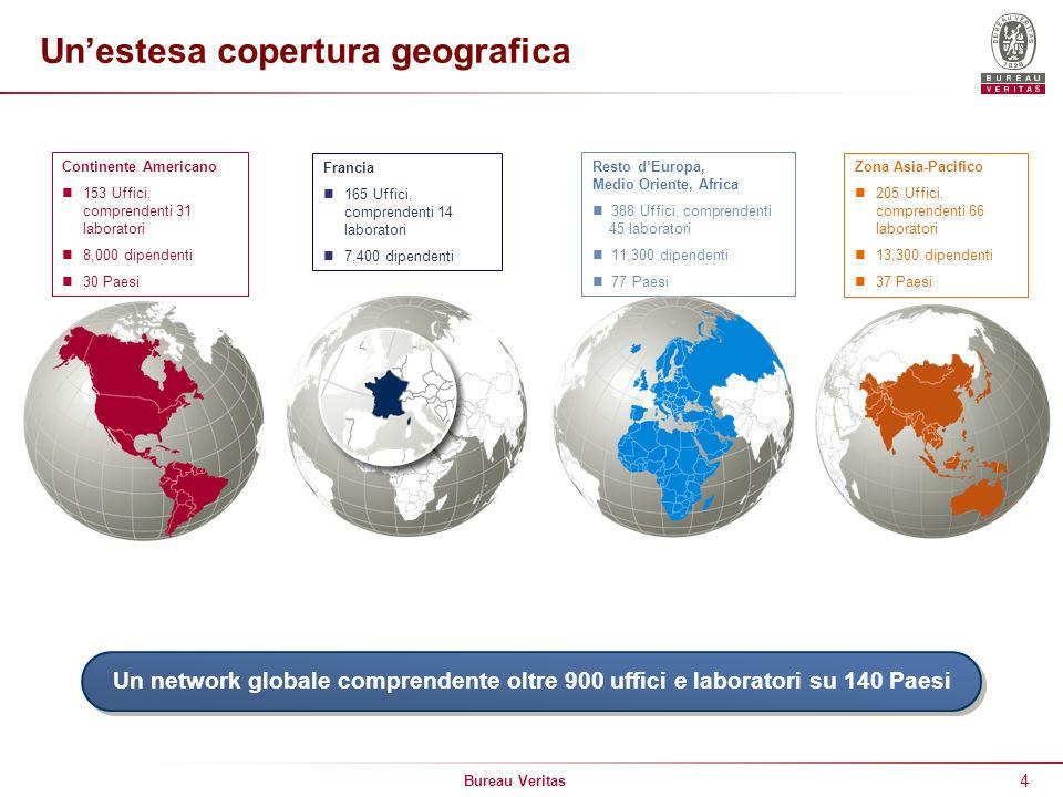 Un'estesa copertura geografica