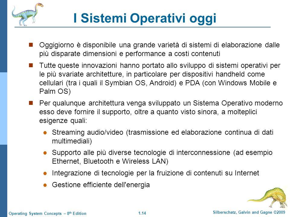 I Sistemi Operativi oggi