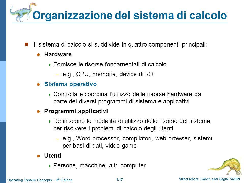 Organizzazione del sistema di calcolo