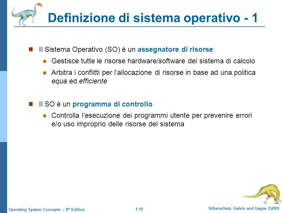 Definizione di sistema operativo - 1