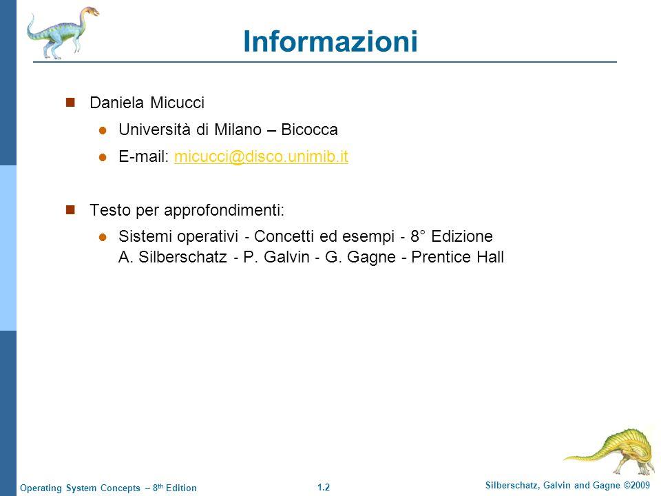 Informazioni Daniela Micucci Università di Milano – Bicocca
