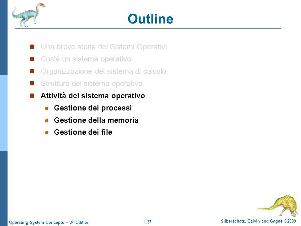Outline Una breve storia dei Sistemi Operativi